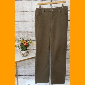 Jones New York Olive Green Stretch Jeans